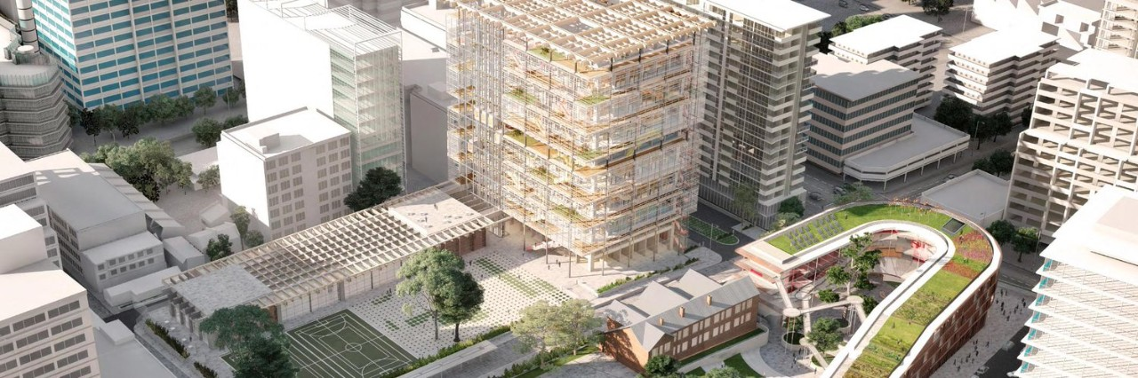 Artists impression of the new high rise school building